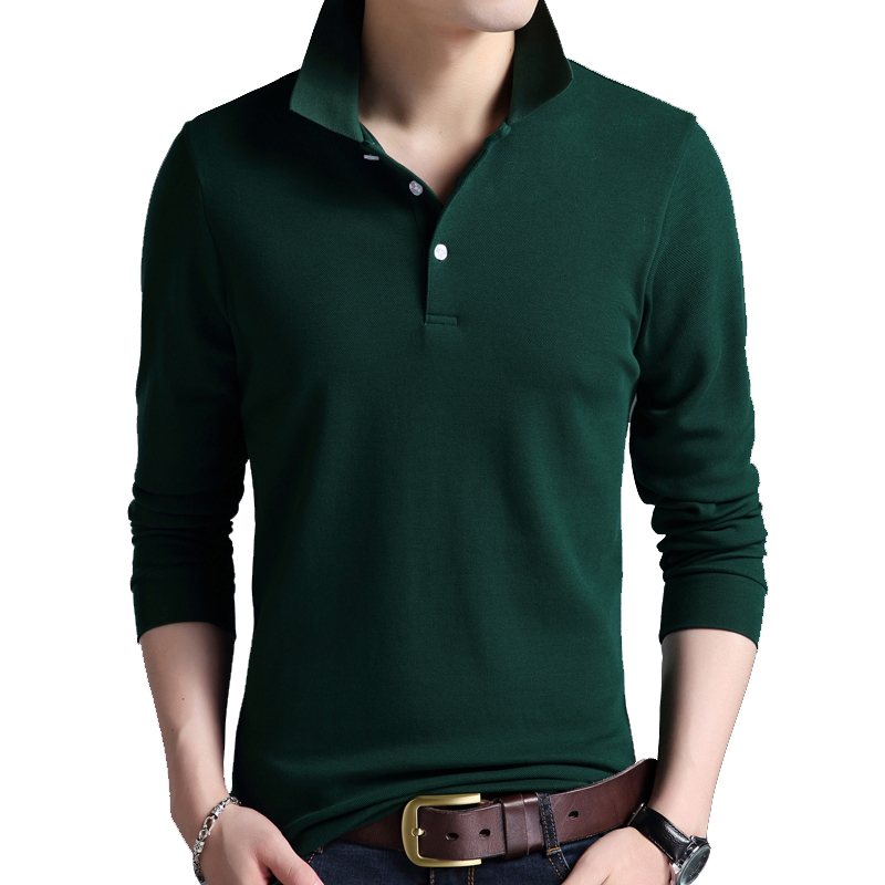 Men high quality New Fashion   Polo   Shirt Solid Color Slim   Polo   Long Sleeve Mercerized Cotton Casual   Polos   Shirt Mens S-4XL