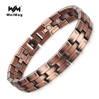 WelMag Healthy Magnetic Bracelet For Men Bio Energy Magnets Stainless Steel Bracelets
