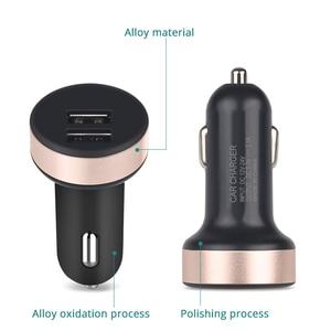 Image 5 - 5V 2.1A ユニバーサル 2 ポート Usb シガーライター電圧計充電器液晶ディスプレイ車の充電器電源アダプタスマートフォン用タブレット