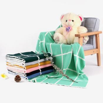 2019 Baby Blanket Knitted Newborn Swaddle Wrap Blankets Plaid Toddler Infant Bedding Quilt For Bed Sofa Basket Stroller Blankets baby blankets newborn flannel swaddle wrap blanket super soft toddler infant bedding quilt for bed sofa basket stroller blankets