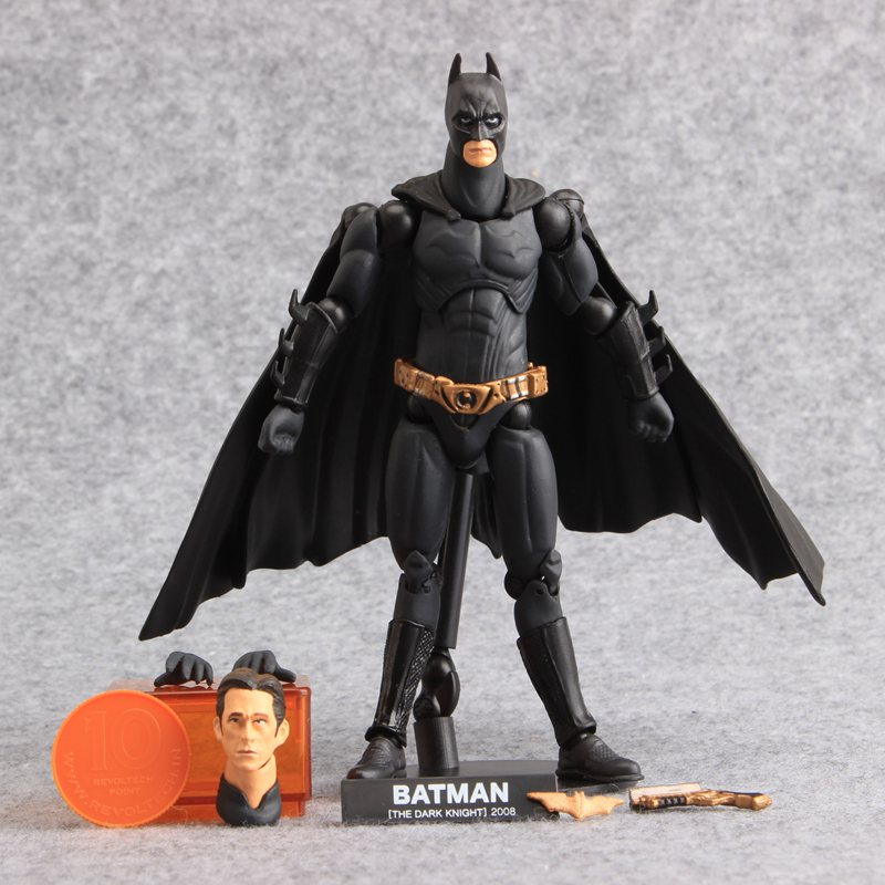 High Quality DC Comics Justice Batman Juguetes Sci-Fi Revoltech PVC Action Figure Collectible Model Dolls Children Gift 16 CM рюкзак dc comics batman