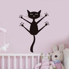 Fashion Wall Stickers Cat Art Stickers Living Room Decor TV Wall Decor Child Bedroom Vinyl Home decoration