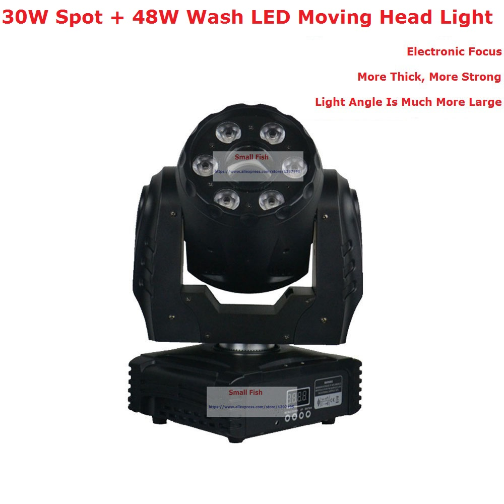 Excellent Spot Wash Moving Head Lights High Quality 30W Spot + 6X8W LED Wash Moving Head Stage Lights With 5/19 DMX ChannelsExcellent Spot Wash Moving Head Lights High Quality 30W Spot + 6X8W LED Wash Moving Head Stage Lights With 5/19 DMX Channels
