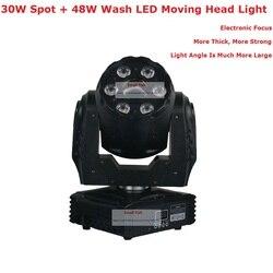 Uitstekende Spot Wash Moving Head Lights Hoge Kwaliteit 30W Spot + 6X8W LED Wash Moving Head podium Verlichting Met 5/19 DMX Kanalen