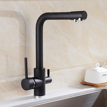 New oatmeal color Kitchen Faucet Seven Letter Design 360 Degree Rotation with Water Purifi