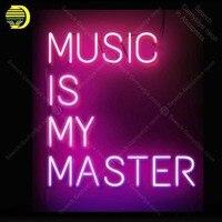 ネオンサイン音楽は私のマスターネオン電球サインハンドクラフトビールバーベッドルームの家のネオン看板ヴィンテージネオンライト anuncio luminos -