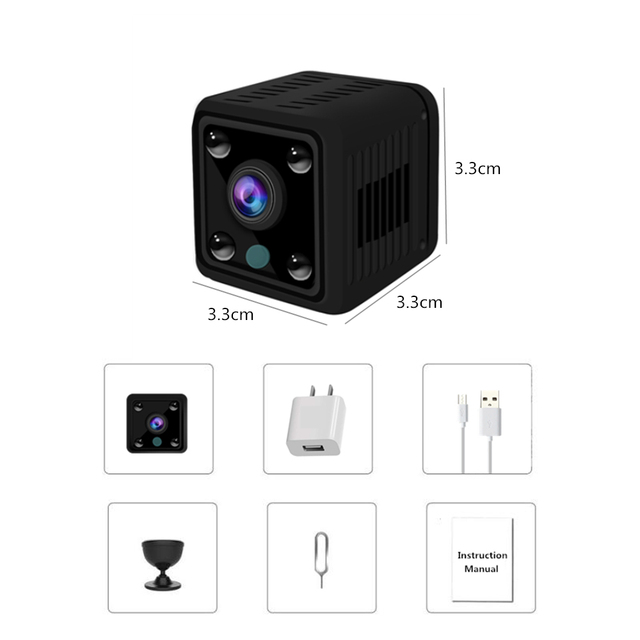 SPY Security Mini Camera 1080P Very Good Quality,  WIFI Wireless Home Built-in Battery IP Camera 720P HD IR Night Vision Baby Monitor Surveillance CCTV