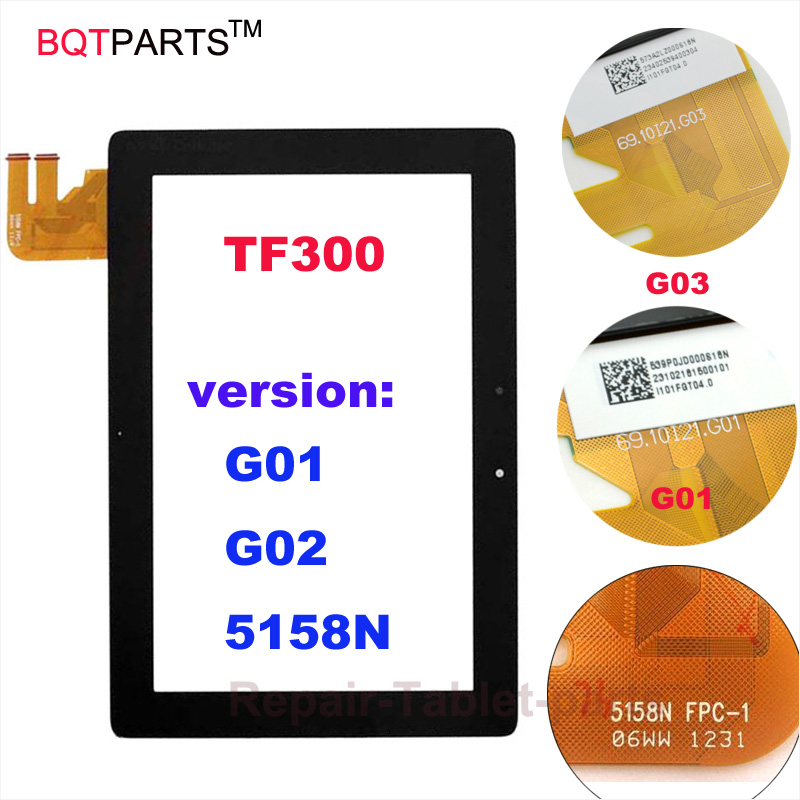 TF300TG Touch screen For Asus Transformer Pad TF300T TF300 G01 G03 5158N Black digitizer touch Glass Sensor Panel new for asus eee pad transformer prime tf201 version 1 0 touch screen glass digitizer panel tools
