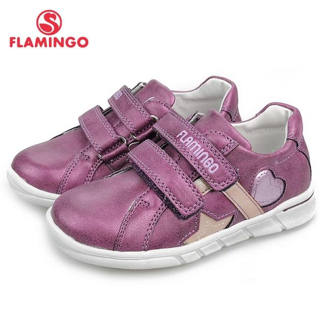 Весенняя ортопедическая кожаная стелька с фламинго, детская повседневная обувь, кроссовки для маленьких девочек, размер 25-30, бесплатная доставка, 91P-XY-1156/1157