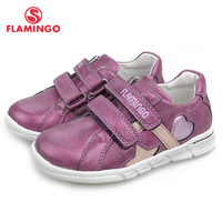 FLAMINGO Spring Orthotic Leather Insole Children Casual Shoes Little Girls Sneaker Size 25 30 free shipping 91P XY 1156/1157