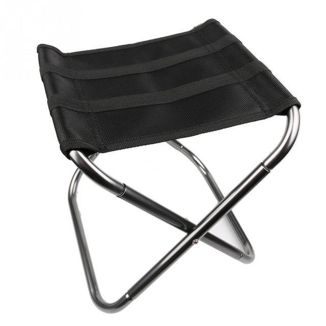 1 PC Folding Dobre Stool Cadeira Assento de Alumínio Ao Ar Livre de Acampamento de Pesca com Saco de Transporte