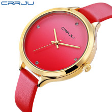 цены CRRJU 2017 Ladies Watch Women Watches Brand Famous Female Clock Quartz Watch Wrist Quartz-watch Montre Femme Relogio Feminino