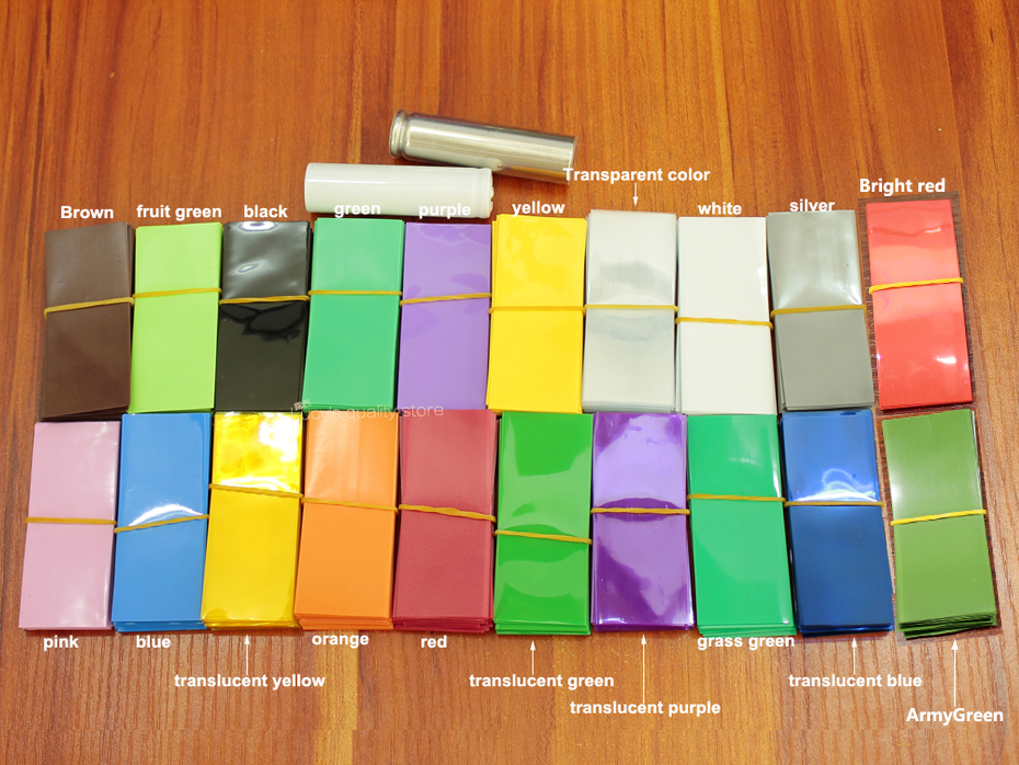 100pcs lot Lithium Battery Heat Shrinkable Sleeve Insulated Cover Skin 18500 Special Pvc Shrink Film 30mm 58mm in Replacement Parts Accessories from Consumer Electronics