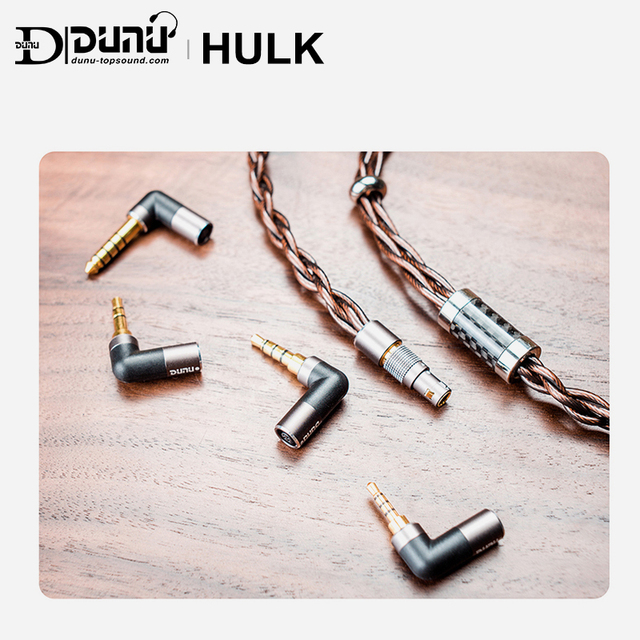 DUNU HULK Upgrade Cable for HIFI AUDIO Earphone IME Detachable MMCX 2 Pin 0.78mm/QDC Plug with 4 connectors 3.5/2.5/3.5pro/4.4mm 1