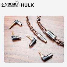 DUNU HULK Cable mejorado para auriculares HIFI, Cable desmontable MMCX de 2 pines de 0,78mm/enchufe QDC con 4 conectores de 3,5/2,5/3.5pro/4,4mm