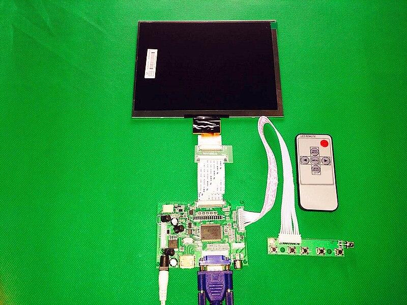 """HDMI/VGA/AV Bordo di Driver di Controllo + 8 """"pollici HJ080IA 01E 1024*768 IPS ad alta definizione display LCD Per Raspberry Pi-in Schermi LCD e pannelli per tablet da Computer e ufficio su  Gruppo 1"""
