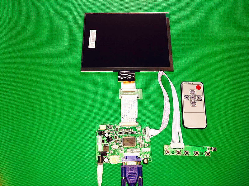 HDMI/VGA/AV Control Driver Board + 8inch HJ080IA-01E 1024*768 IPS high-definition LCD Display For Raspberry Pi new original package innolux 8 inch ips high definition lcd screen hj080ia 01e m1 a1 32001395 00