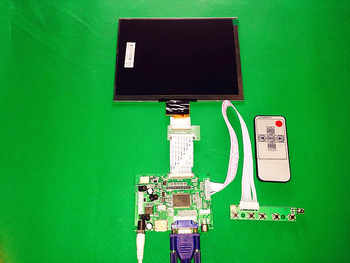 """HDMI/VGA/AV Control Driver Board + 8\""""inch HJ080IA-01E 1024*768 IPS high-definition LCD Display For Raspberry Pi - DISCOUNT ITEM  18 OFF Computer & Office"""
