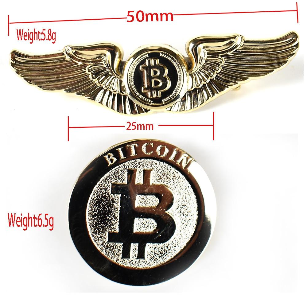 Gold Bitcoin Badge 5