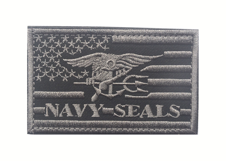 3D Embroidery Patch US NAVY SEALS Tactical Morale Embroidered Badges Fabric Stickers Military Patches For Jackets Jeans Backpack in Patches from Home Garden