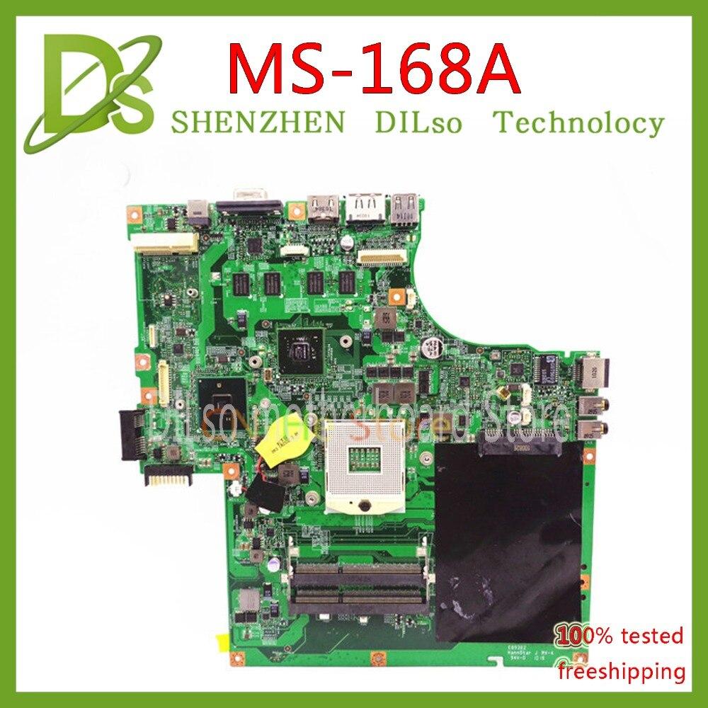 KEFU MS-168A carte mère POUR MSI CX623 MS-168A Ordinateur Portable carte mère HM55 VER 1.0 MS-168A1 DDR3