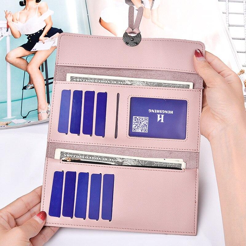 Kvinnors handväskor 30 procent mer kort plånbok nya damer mode - Plånböcker - Foto 4