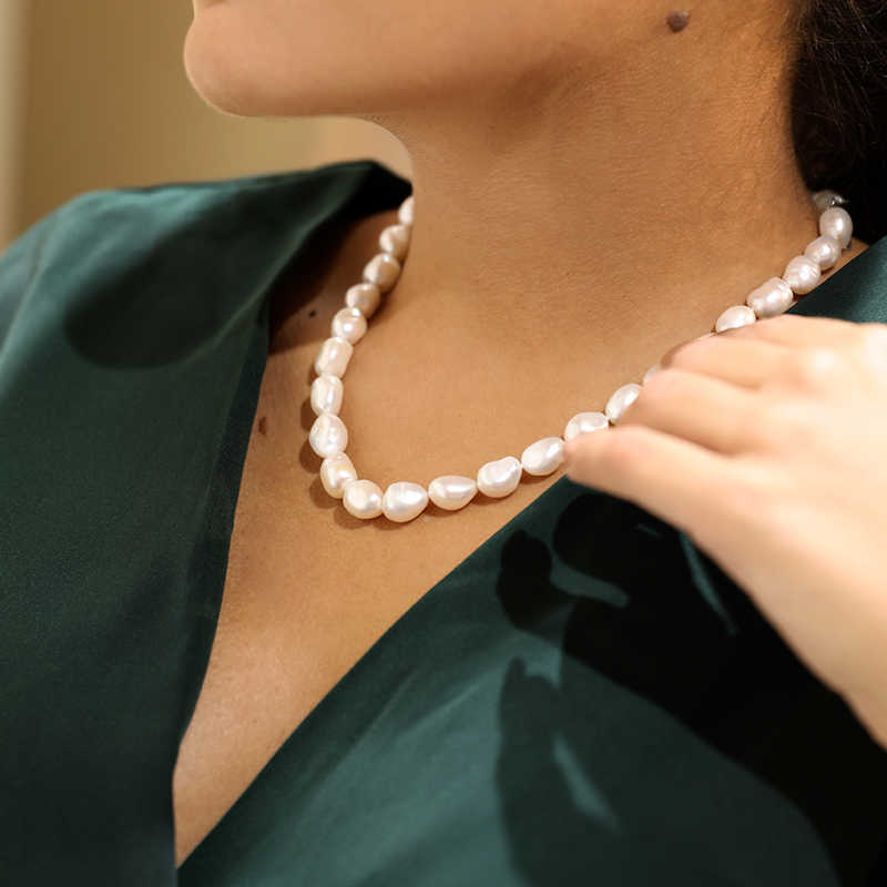 Daimi Chính Hãng Baroque Hạt Trai, Vòng Đeo Cổ Cho Người Phụ Nữ mới Họa Tiết Bi Hoa Mỹ Trang Sức 9-Hạt Ngọc Trai Vòng Cổ Choker