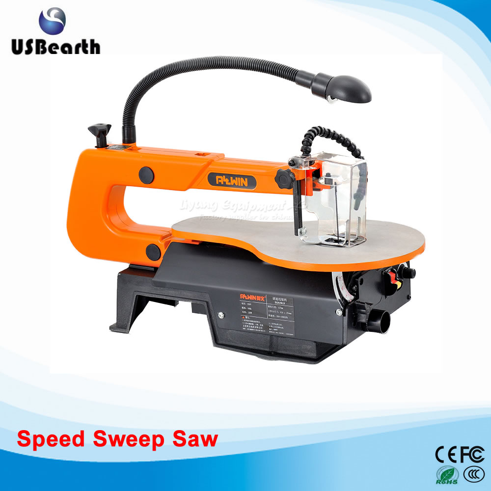 все цены на Table type dust-free carved straight line model steel wire saw Desk Carpenter 16 inch speed sweep saw SSA16L-V онлайн