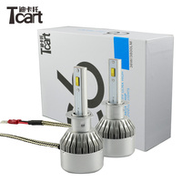 Tcart 1Set High Power Auto Led Headlights LOW DIPPED BEAM C6F H1 36W 3800LM 6000K Car