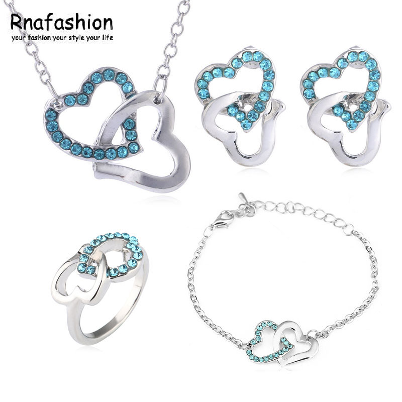 Earrings Bracelet-Ring Heart-Necklace Family Fashion Hot The To of Four-Loaded-048 Knot