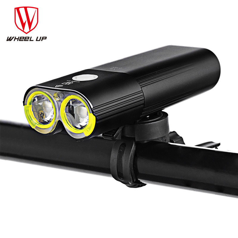 Колеса до велосипед света профессиональный 1600 люмен велосипед свет Мощность банк Водонепроницаемый USB Перезаряжаемые велосипед фонарик Ве...
