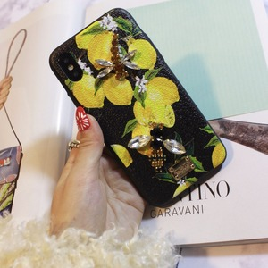 Image 4 - Aoweziic Hot Flower lemon For iPhone X XS MAX XR mobile phone shell Dragonfly butterfly 6S 7 8Plus water drill protection sleeve