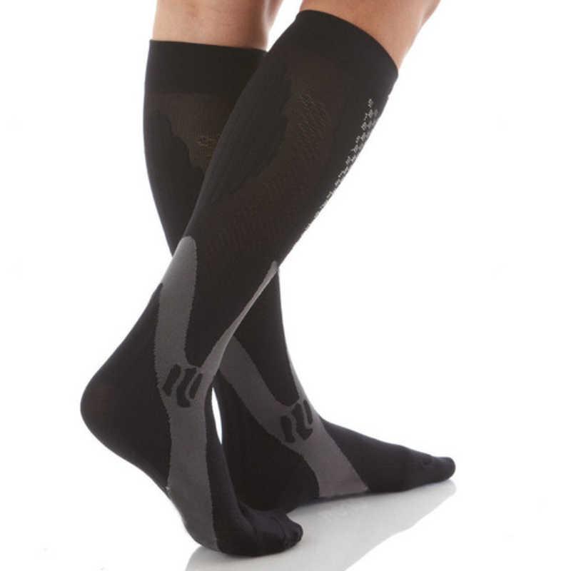 Brothock Compressie kousen Running basketbal voetbal sokken Nylon Anti-zwelling stretch Outdoor sport compressie sokken