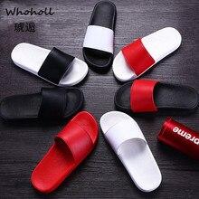 где купить Whoholl Men Slippers Summer Beach Male Slides Women Non-slip Flip Flops Striped Style Outdoor Indoor Sandals for Couple Soft 45 по лучшей цене