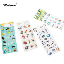 Creative Cute Animal Plant Life Tool DIY PVC Sticker Decoration Decal Diary Album Scrapbooking Envelope Seal Stationery Stickers