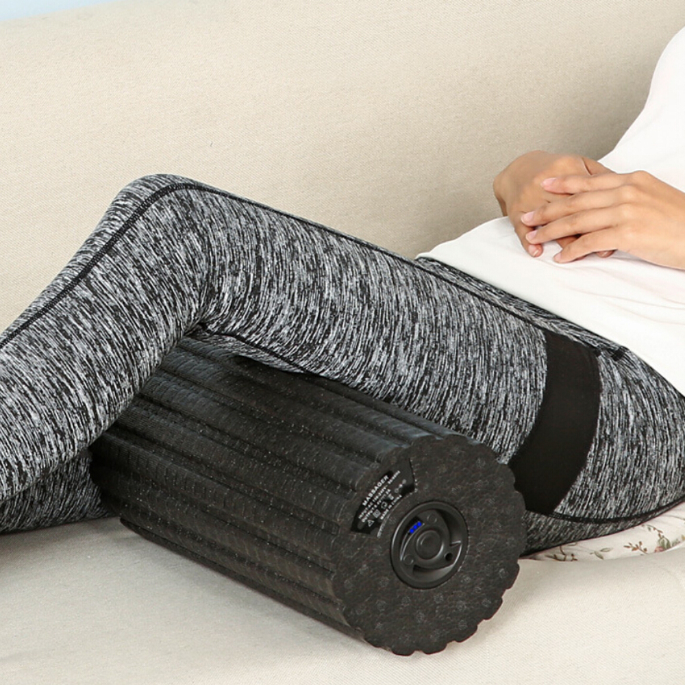 Bloc de Yoga colonne électrique Massage par Vibration masseur réglable soulager la Fatigue musculaire Yoga rouleau de mousse Pilates bloc Fitness