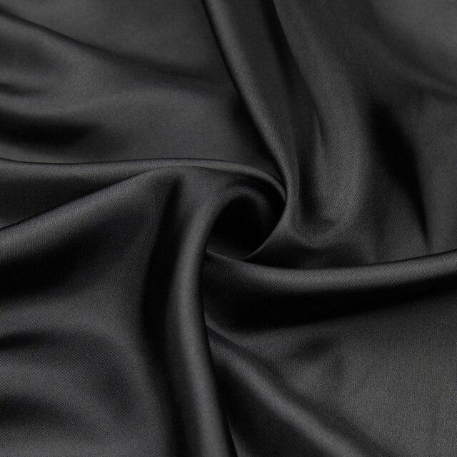 ed4d69add4076 US $16.53 43% OFF Pure black 100% silk twill satin fabric silk twill fabric  very smoothly,STW089-in Fabric from Home & Garden on Aliexpress.com   ...
