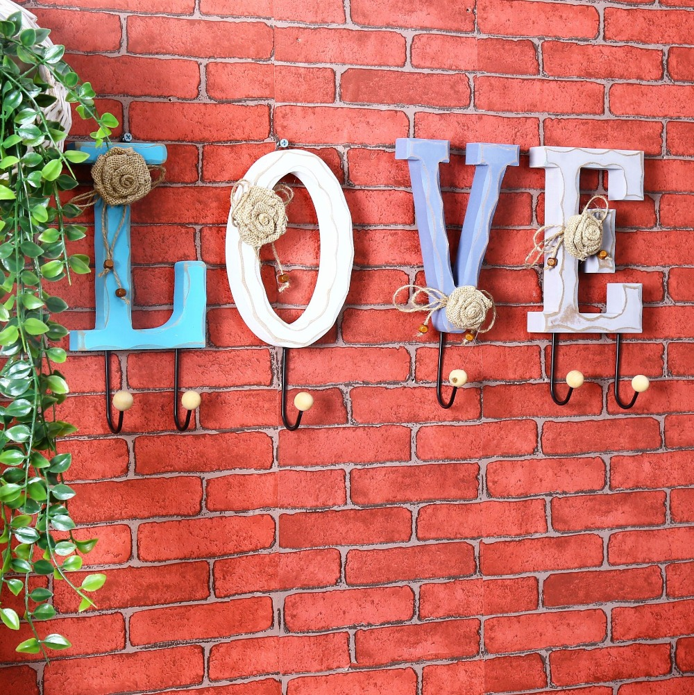 New creative love letter lace flower design wooden wall hook new creative love letter lace flower design wooden wall hook coat hat hanger hanger decorative wall hook home decor in hooks rails from home garden amipublicfo Choice Image