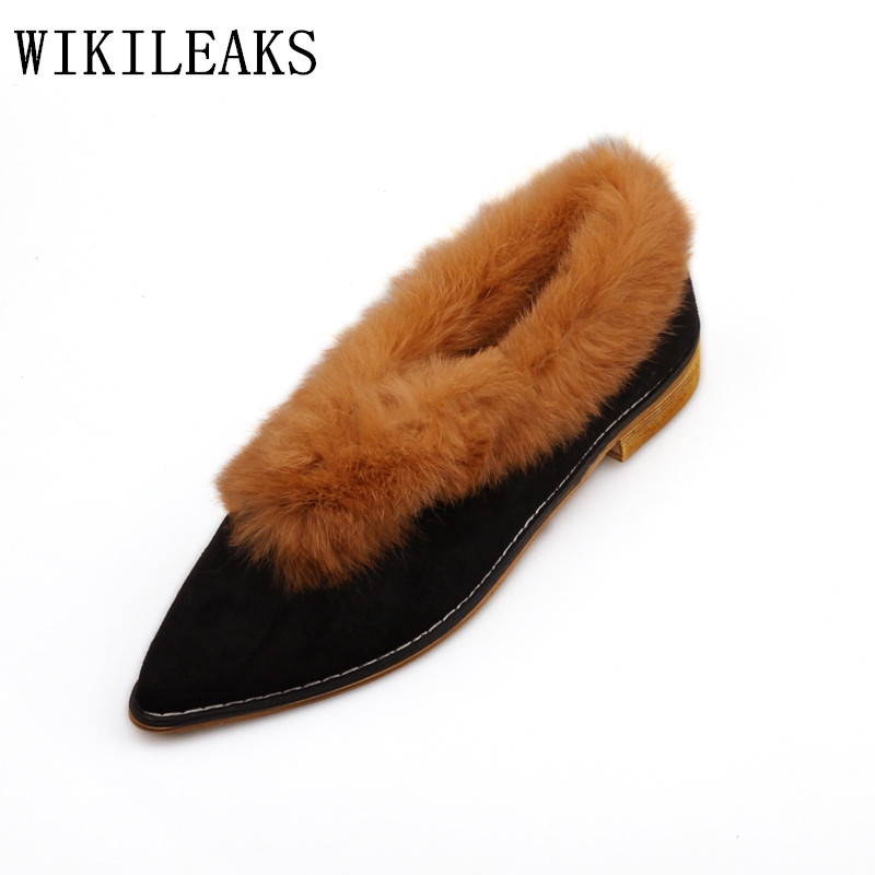 designer autumn winter women boat shoes luxury brand flat shoes women fur slip on loafers zapatillas mujer casual ladies shoes new designer women fur flats luxury brand slip on loafers zapatillas mujer casual ladies shoes pointed toe sapato feminino black