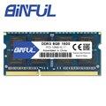 Binful Original de nueva marca DDR3 PC3-12800s 8 GB 1600 mhz para portátil de memoria RAM 204pin portátil de 1,5 V tensión de la vida garantía