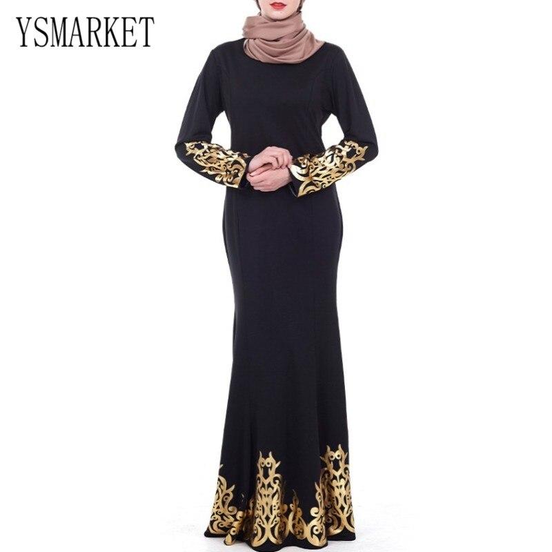 YSMARKET musulman Islam dubaï Abaya printemps éthique robe Maxi élégant noir longue robe de soirée de luxe Court Style bronzant Design