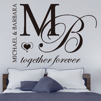 Together Forever Bedroom Decoration DIY Wall Stickers Home Decor Art Design Removable Vinyl Customize Name Wall