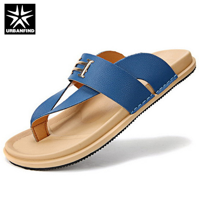 New Mens Slippers Embroidery Sandals Flat Summer Casual Beach Shoes Leisure Sz
