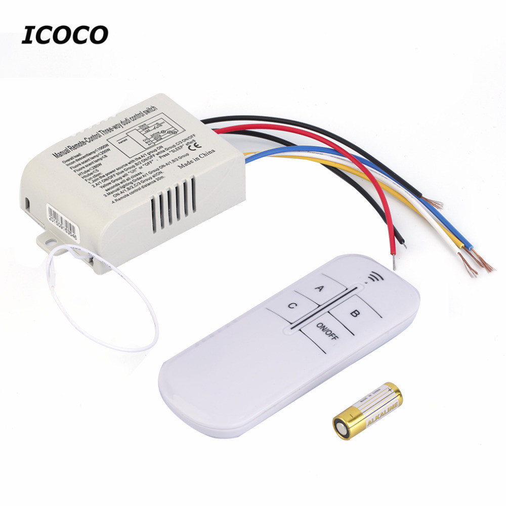 220V 3 Way ON/OFF Digital RF Remote Control Switch Wireless For Light Lamp Worldwide Store High Quality free shiping 220v 3 way on off digital rf remote control switch wireless for light lamp high quality hot sale