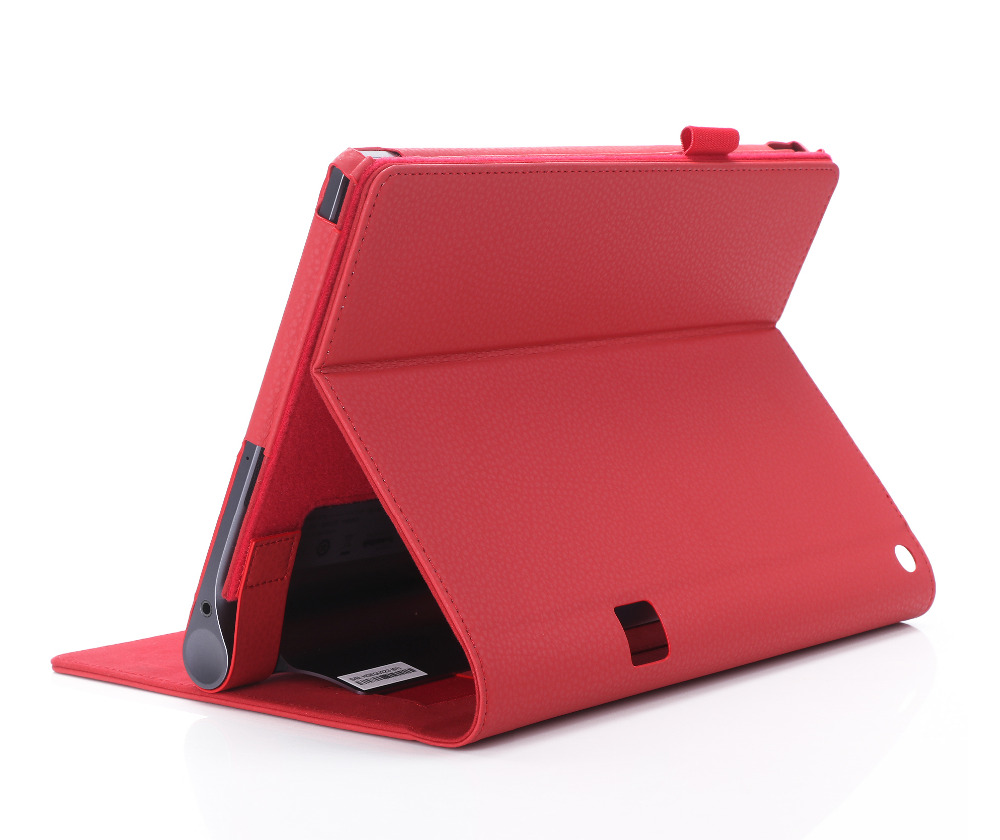 For Lenovo Yoga Tab 3 Plus 10 YT-X703F Multi-Angle Detachable Slim Folio Premium PU Leather Stand Case Cover With Hand Strap folio stand holder luxury magnetic leather case full protective sleeve cover for lenovo yoga tab3 plus 10 1 yt x703f tab 3 x703l