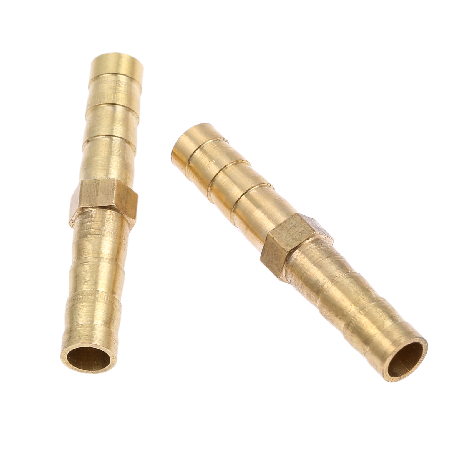 6mm Dia Air Straight Hose Pipe Barb Coupler Connector Brass Tone 6pcs