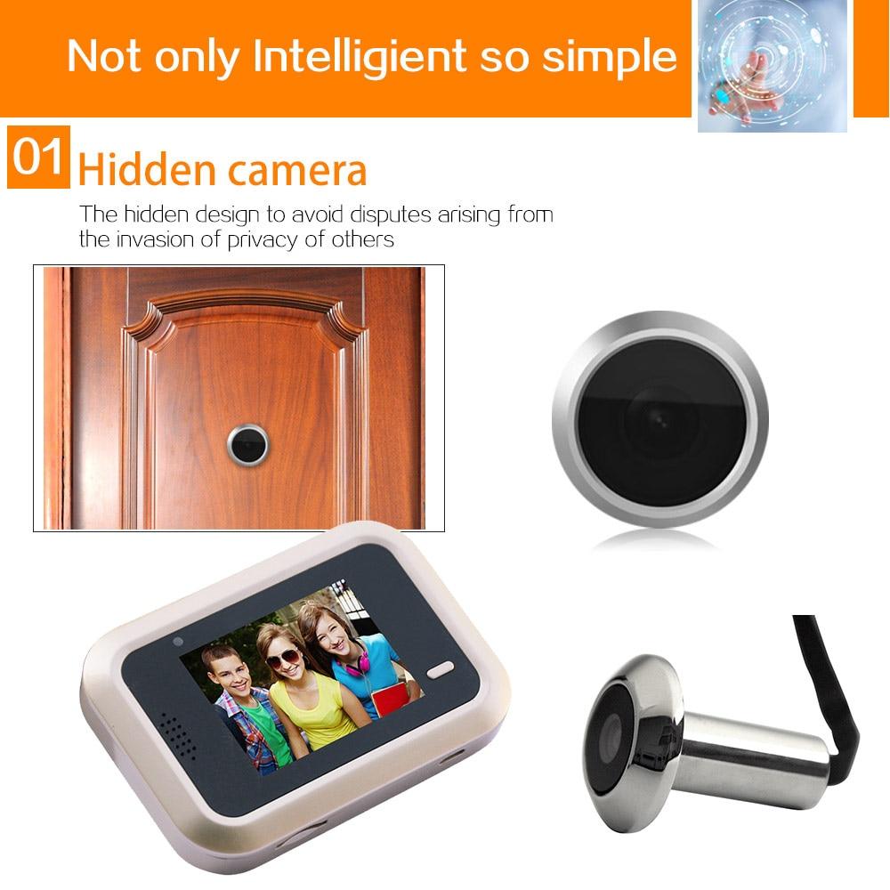 все цены на Smart Visual Doorbell 2.4inch Peephole Viewer 145 Degrees Wide Angle Security Electronic Door Eye LCC77