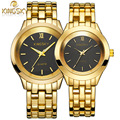 Couple Watch Luxury Brand KINGSKY New Fashion Casual Watches Women Quartz Wristwatch Gold Clock Men Reloj Mujer Relogio Feminino