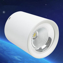 10W 12W 15W COB LED downlight AC110V~240V Cool white/Warm white CE&ROHS Dimmable 15W LED spotlight ceiling 6PCS/lot
