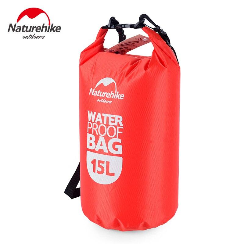 Prix pour Naturehike Ultra-Léger Imperméable À L'eau Rafting Sac Sec 4 Couleurs En Plein Air En Nylon Kayak De Stockage Dérive De Natation Sac 15L 25L